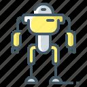 drone, exoskeleton, robot, robotic, technology icon