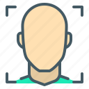 face, face recognition, man, recognition icon