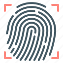 fingerprint, fingerprint identification, identification icon