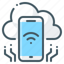 connection, internet, internet of things, technology, things icon