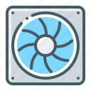 cooler, cooling, fan icon