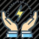 control, efficiency, energy, energy efficiency, intelligent, intelligent energy control, technology icon