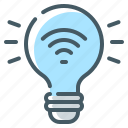 bulb, light, smart, smart light, smart light bulb, technology icon