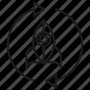 arrow, launch, reusable rocket, reuse, rockey, spaceship icon