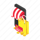 device, digital, shopping, smartphone, store, technology icon