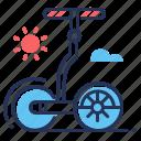 electric vehicle, gyropode, modern, self balancing icon