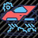 flying car, future, hovercar, soaring icon
