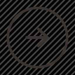 arrow, direction, location, next, right icon