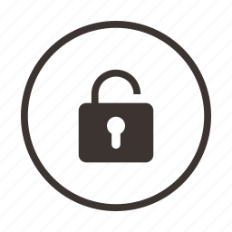 lock, privacy, unlock, unsafe, unsecure icon