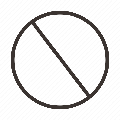 disallow, halt, not applicable, restrict, stop icon