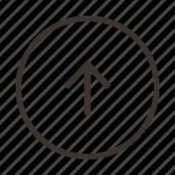 arrow, direction, location, send, up, upload icon