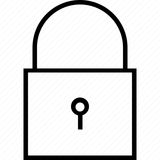 keyhole, lock, password, private, protection, safety, security icon