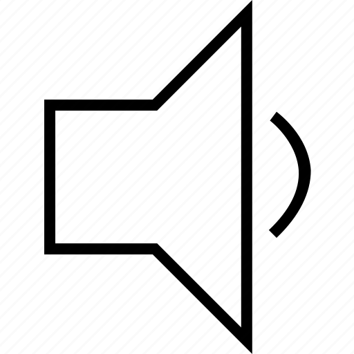 down, low, sound, speaker, volume icon