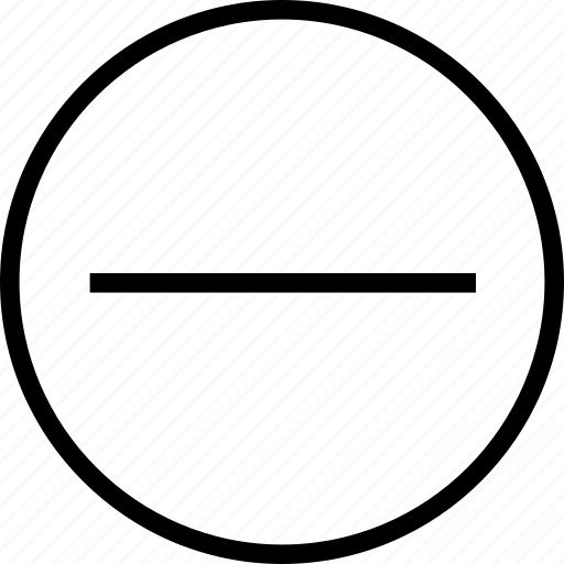 circle, delete, minus, out, remove, zoom icon