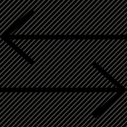 arrows, change, exchange, horizontal, inverse, swap icon