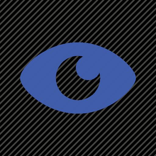 basic, eye, modern, see, ui, watching icon