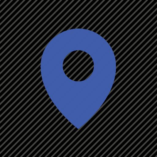 basic, location, maps, modern, pin, ui icon
