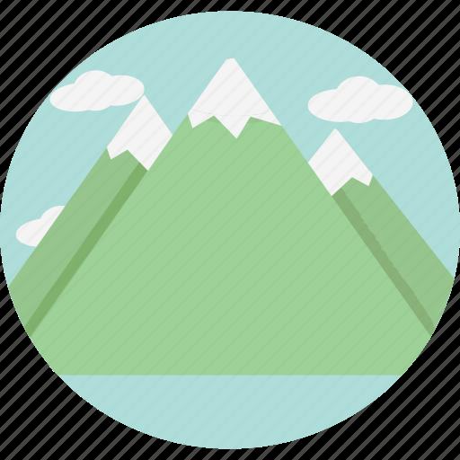 blue, mountains icon