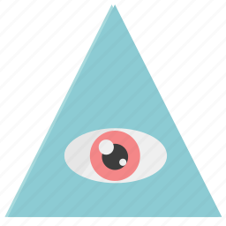 eye, triangle icon