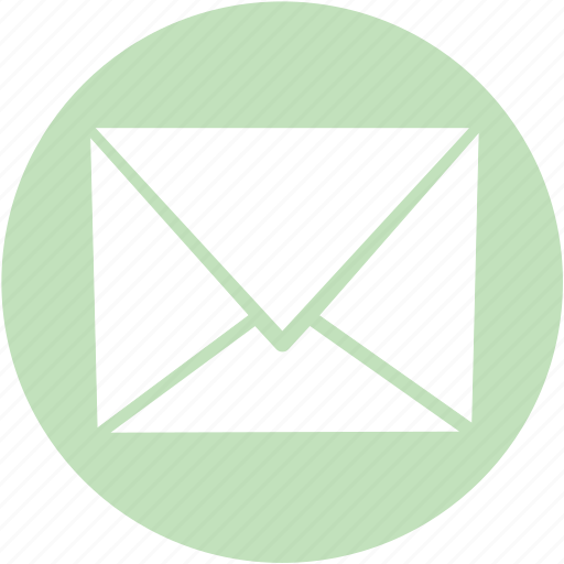 circle, green, mail icon