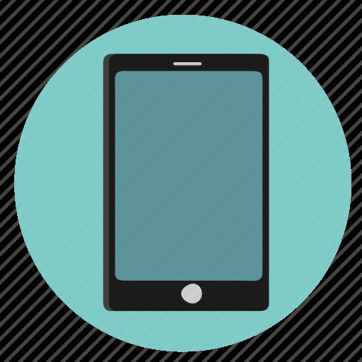 blue, mobile icon