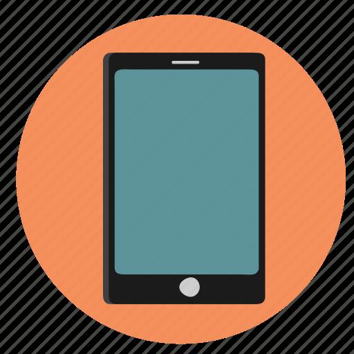 mobile, orange icon