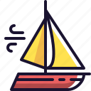 boat, sailing, wind icon