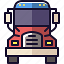 semi, semi-truck, truck, vehicle icon