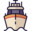 boat, coast guard, cruise ship, military ship, ship icon