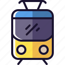 metro, public transport, rails, train icon