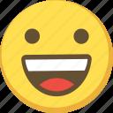 cute, emoticon, happy, smile icon