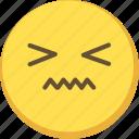 cute, emoji, emoticon, notlike, yellow icon