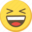 cute, emoji, emoticon, happy, smile, yellow icon