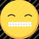 cute, emoji, emoticon, smile, yellow icon