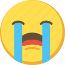 cry, cute, emoji, emoticon, yellow icon