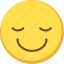 cute, emoji, emoticon, relief, yellow icon