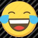 cute, emoji, emoticon, laugh, lol, yellow icon