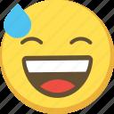 anxious, cute, emoji, emoticon, yellow icon