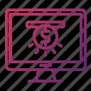 funding, investment, online, platform icon