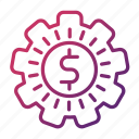 gear, make, money, strategy icon