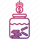 bank, jar, money, save, savings icon