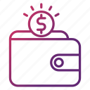 money, pay, purse, savings, wallet icon