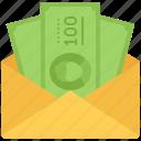 banknote, economy, envelope, finance, money icon
