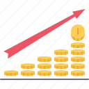 coin, development, finance, money, profit, progress icon