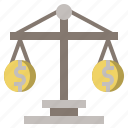 balance, business, judge, justice, law, laws, scale icon