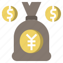 bag, bank, banking, business, currency, dollar, money icon