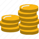 cash, coin, coins, dollar, money, payment, stack icon