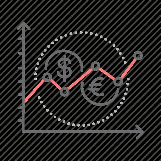 analytics, chart, diagram, financial, graph, stock icon