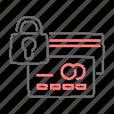card, locked, padlock, password, secure icon