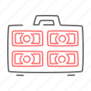 briefcase, case, cash, money, payment icon